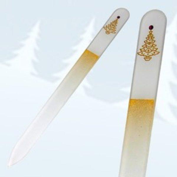 画像1: Xmas ツリー-ゴールド 05-両面やすり (1)