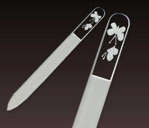 画像1: 蝶 -エングレーヴ片面爪やすり (1)