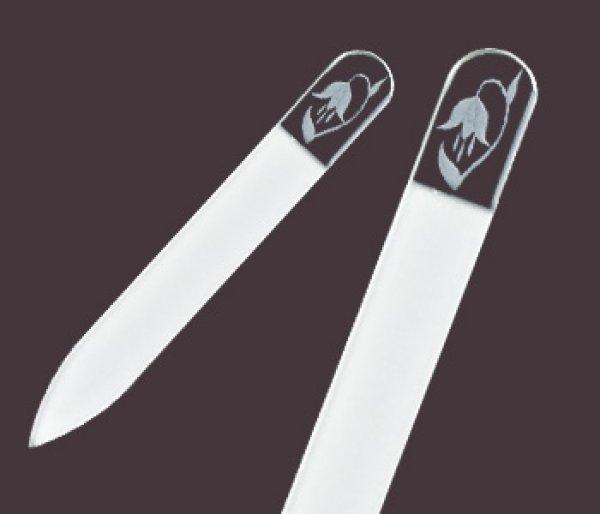 画像1: すずらん  -ミニ エングレーヴ 両面爪やすり (1)