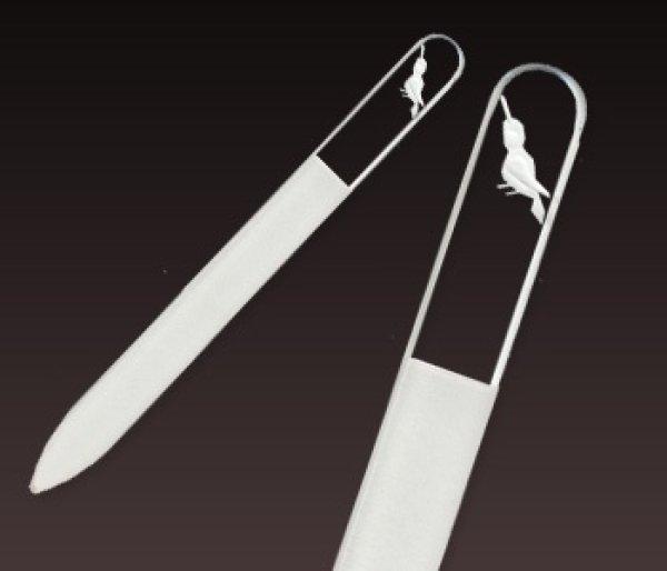 画像1: 小鳥 -エングレーヴ片面爪やすり (1)