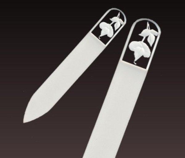 画像1: バラ  -ミニ エングレーヴ 両面爪やすり (1)