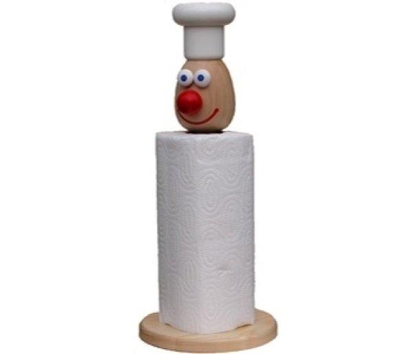 画像1: キッチンペーパーホルダー コックさん (1)